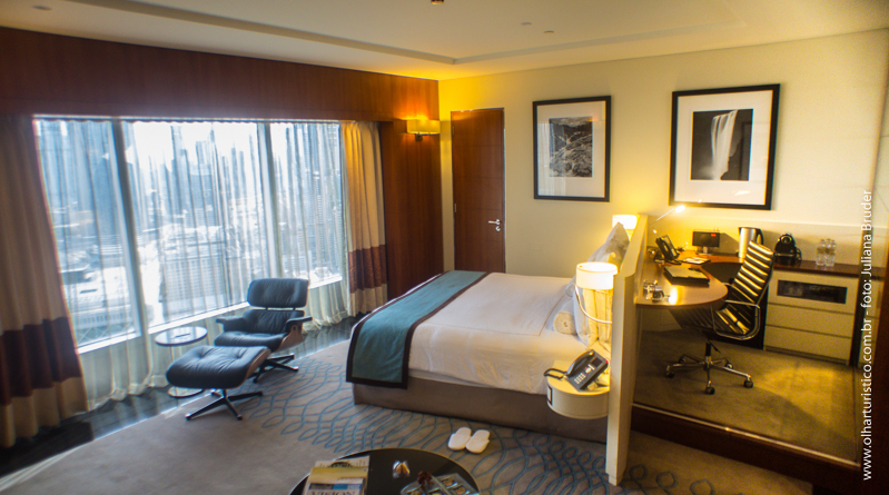 Quarto do Hotel Jumeirah Emirates Tower